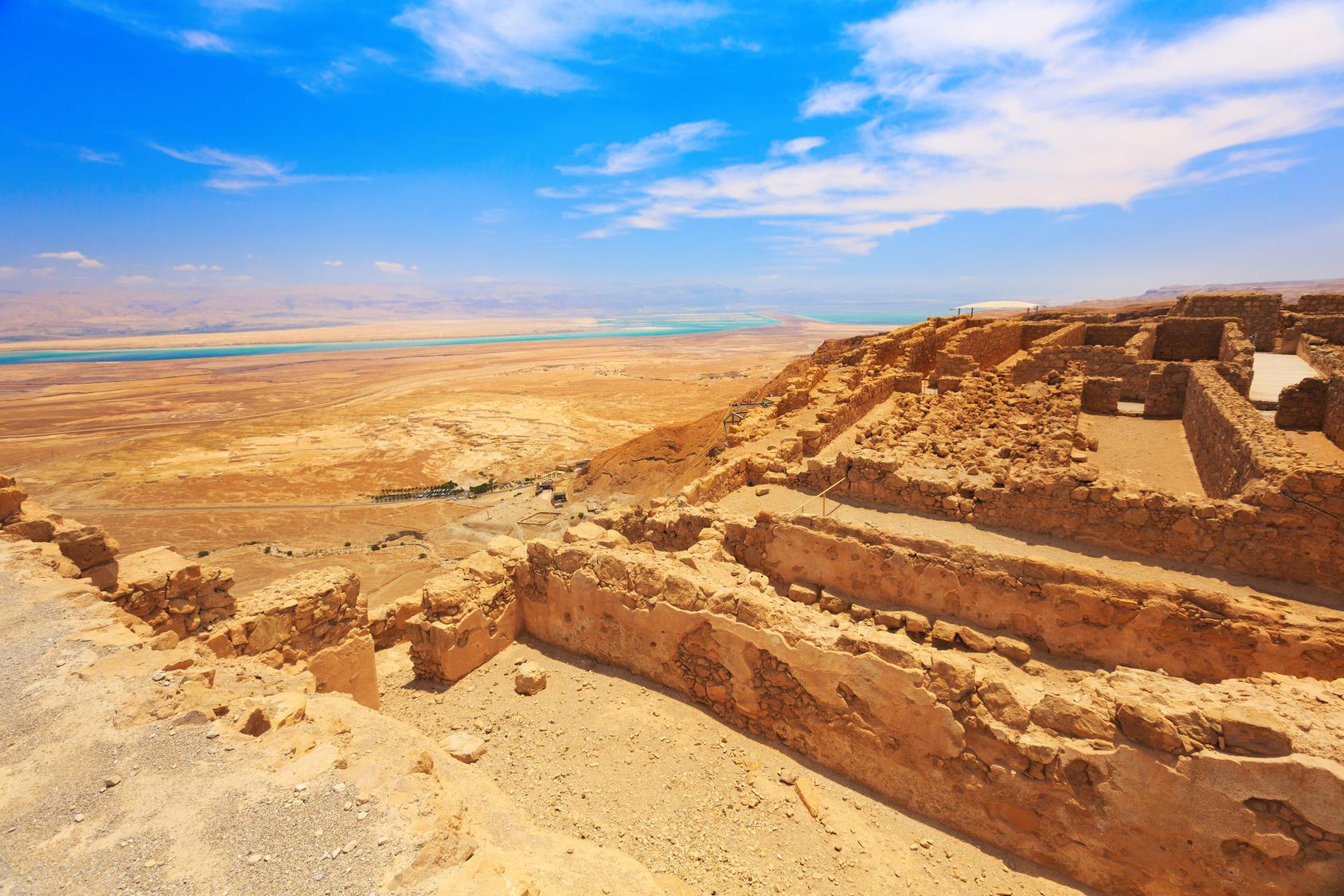 Zbytky pevnosti Masada