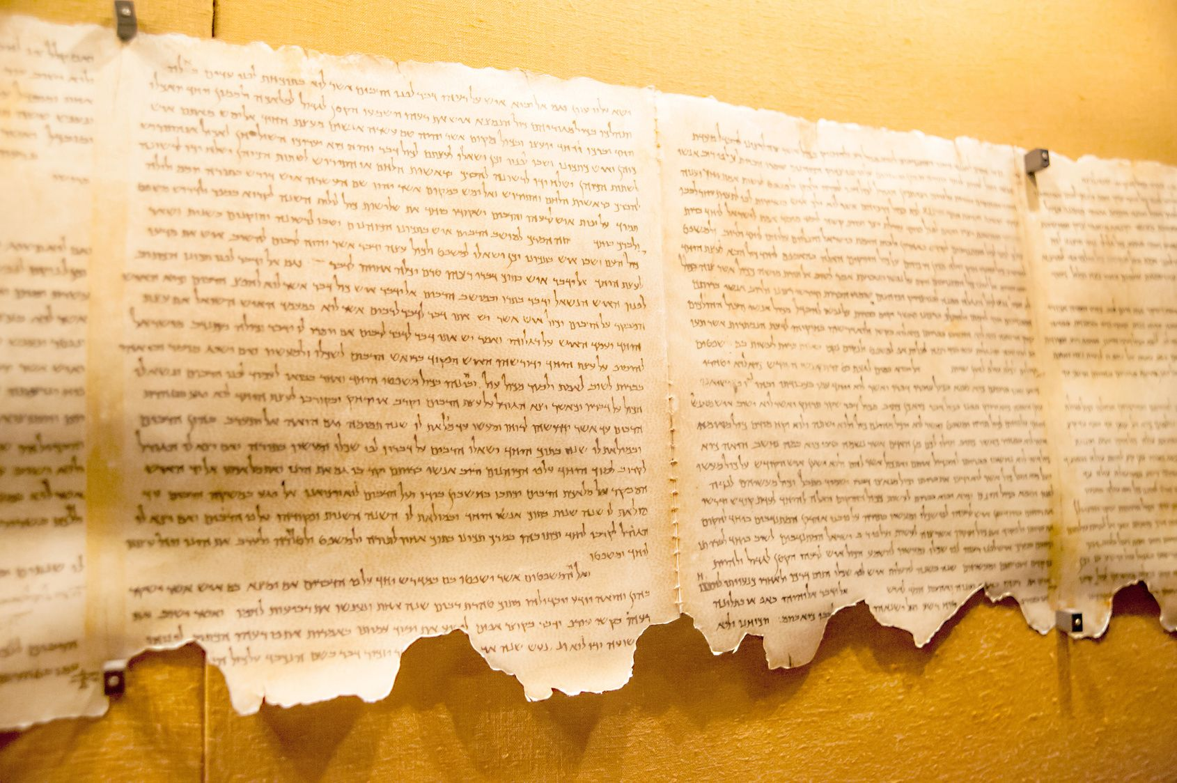 Ukázka svitku od Mrtvého moře
