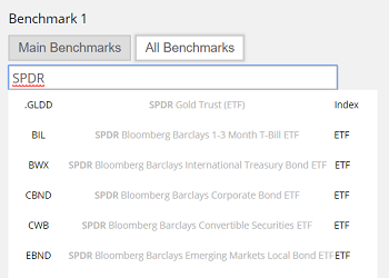 Use ETFs or Stocks as a Benchmark